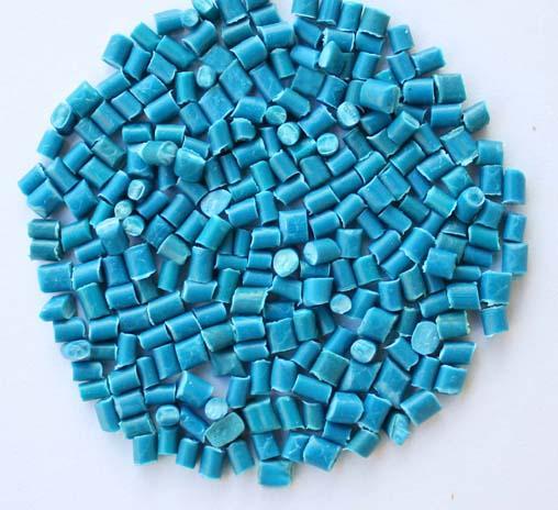Hạt nhựa tái sinh - màu xanh dương